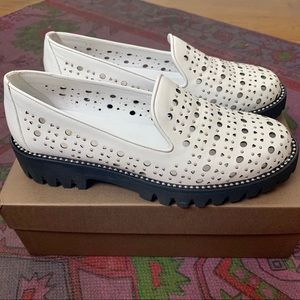 White studded loafers 🌟